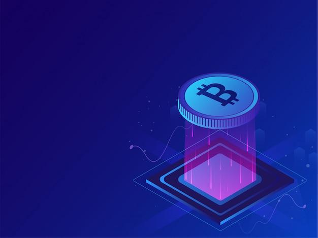 Crypto-mining-konzept.