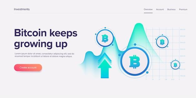 Cryptocoin mining farm. geschäft mit kryptowährung und blockchain-netzwerken