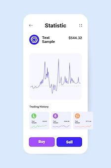 Cryptocurrency-anwendungsdesign virtuelle geldtransfer-app auf dem smartphone-bildschirm banking-transaktion digitale währung