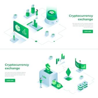 Cryptocurrency-austausch und blockchain-kompositionen