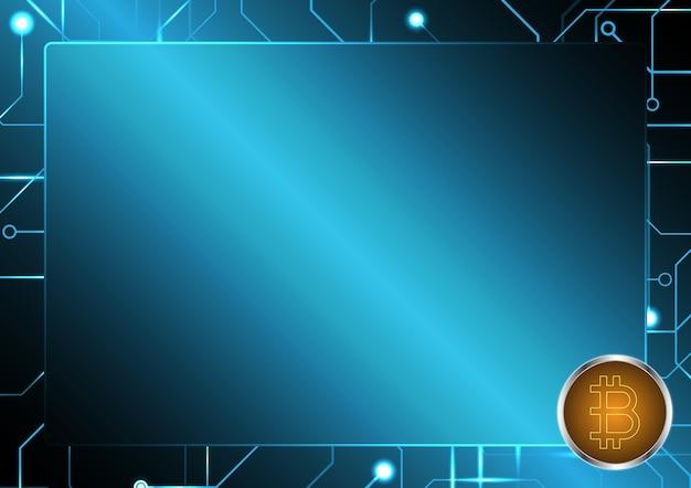 Cryptocurrency bitcoin-schaltungsrahmen-kopie-raum