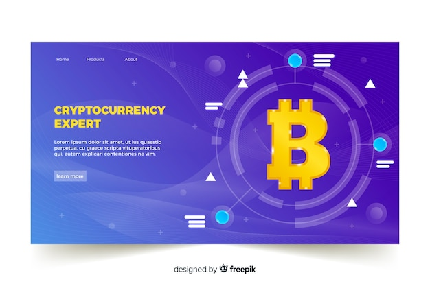Cryptocurrency exchange-zielseitenvorlage