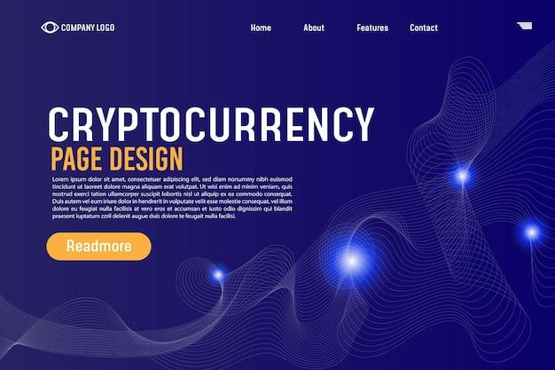 Cryptocurrency gradient landing page hintergrund-website-vorlage für websites oder apps