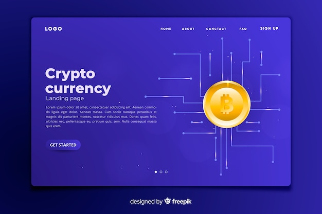 Cryptocurrency-konzept-zielseitenvorlage