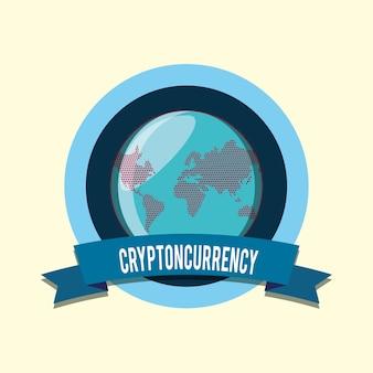 Cryptocurrency konzeptdesign