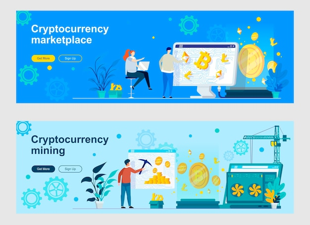 Cryptocurrency landing page set