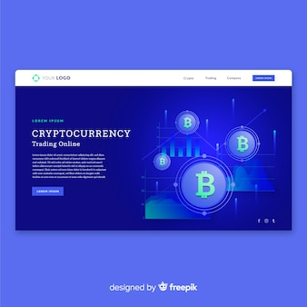 Cryptocurrency landing page