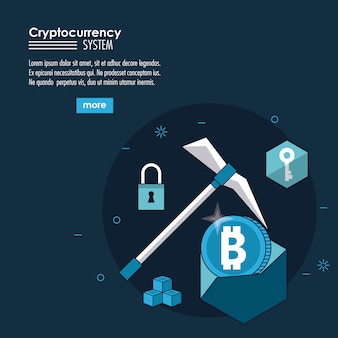 Cryptocurrency System und Marktplatzbanner