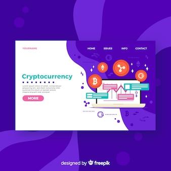 Cryptocurrency-Zielseite