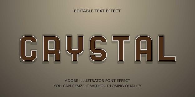Crystal editable text schriftarteneffekt