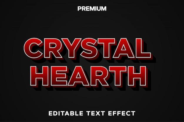 Crystal hearth - spieltitelstil-texteffekt premium