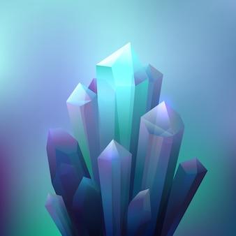 Crystal minerals hintergrund
