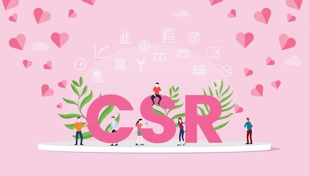 Csr corporate social responsibility-konzept