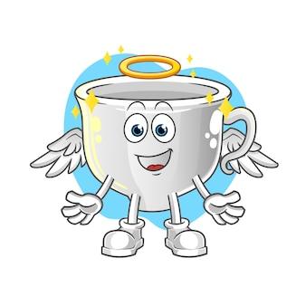 Cup engel mit flügeln. zeichentrickfigur