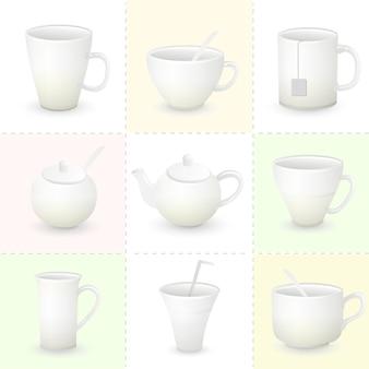 Cup set illustration