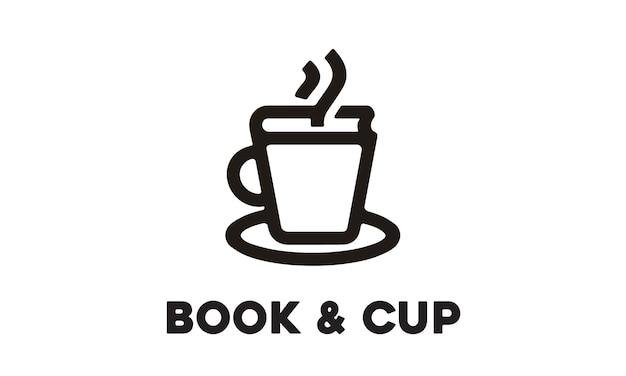 Cup und buch-logo-design