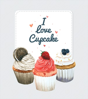 Cupcake-einladungskarte