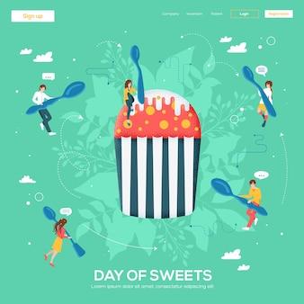 Cupcake-flyer, zeitschriften, poster, buchcover, banner. kornstruktur und rauscheffekt.