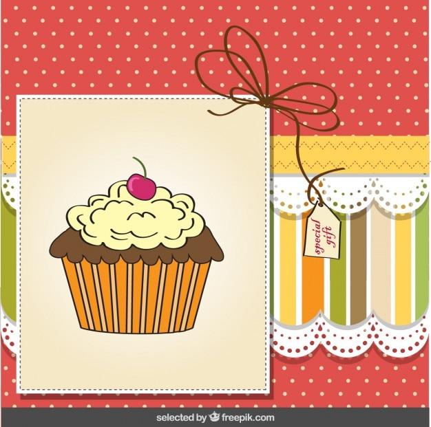 Cupcake-grußkarte
