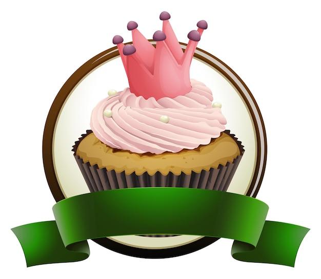 Cupcake mit grünem band