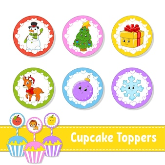 Cupcake toppers illustration