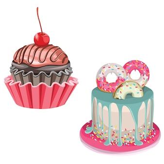Cupcake und kuchen