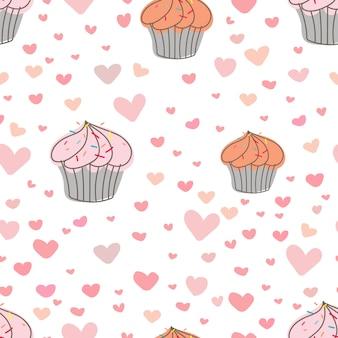 Cupcakes-musterhintergrund.