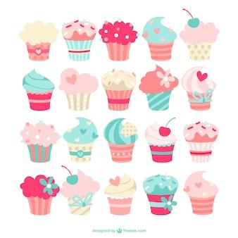 Cupcakes sammlung