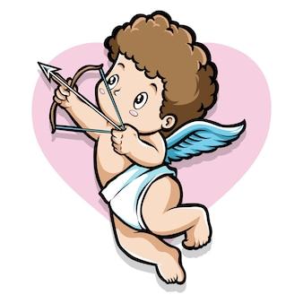 Cupid boy mit pfeil