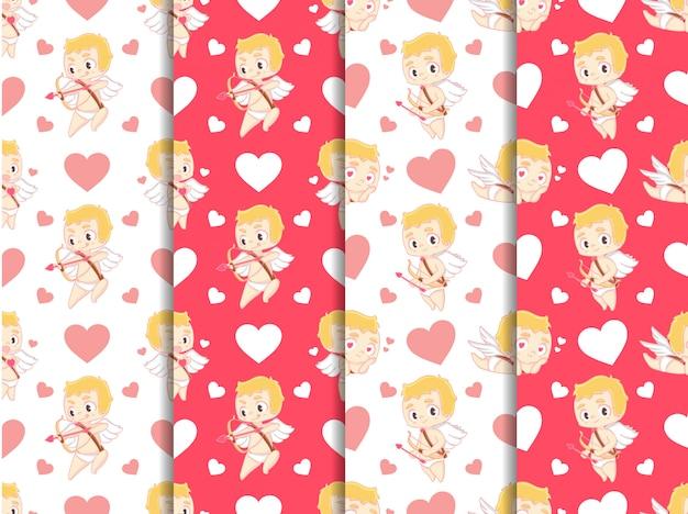 Cupid valentinstag mustersammlung