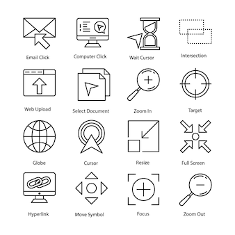 Cursor icons set