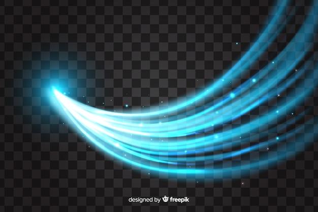 Curve lichteffekt realistischen stil