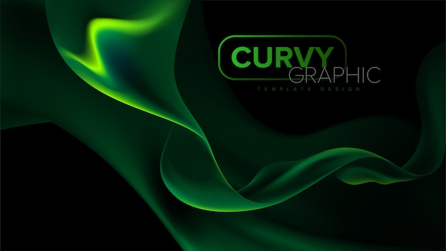 Curvy stripes template design