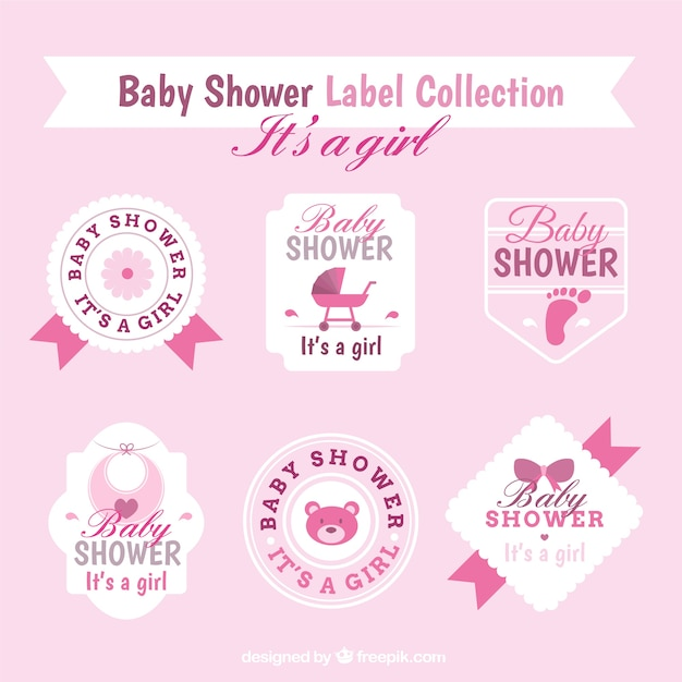 Cute baby dusche aufkleber sammlung