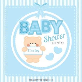 Cute baby-dusche-karte