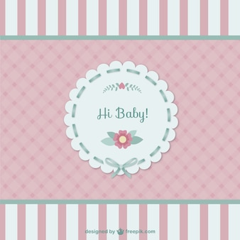 Cute baby-karte
