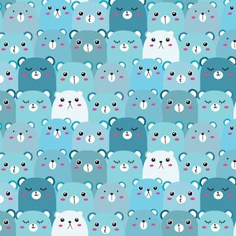 Cute Bear Muster Hintergrund.