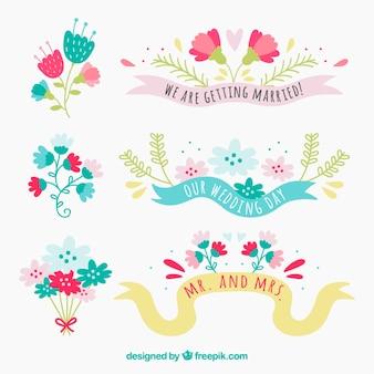 Cute floral Hochzeitsdekoration