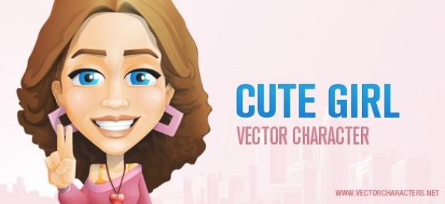 Cute girl vektor-zeichen