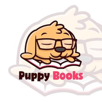 Cute litte brown puppy sleeping cartoon illustration