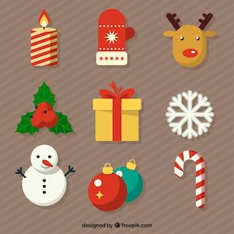 Cute weihnachten elemente sammlung