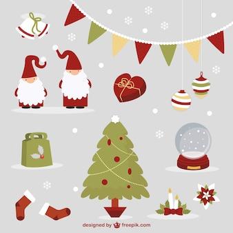 Cute weihnachten elemente
