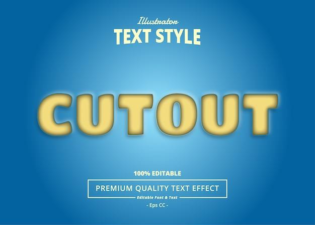 Cutout-texteffekt