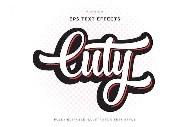 Cuty 3d-texteffekt