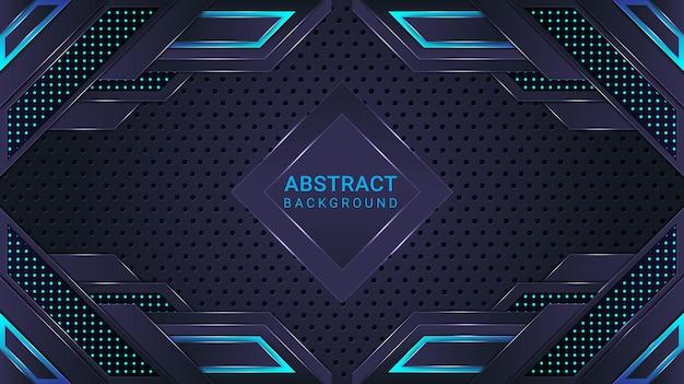 Cyan und blauer gradient moderner abstrakter hintergrund