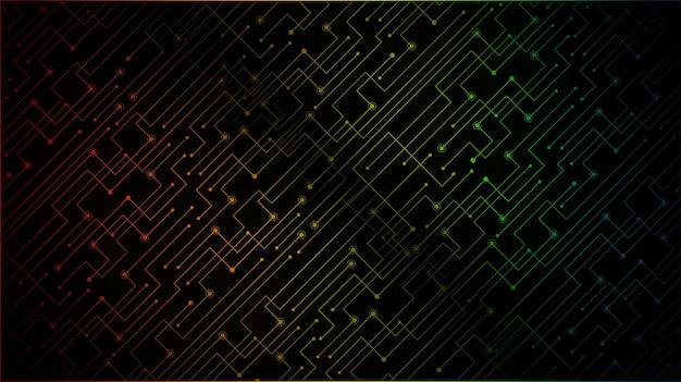 Cyber-circuit-zukunftstechnologie-konzepthintergrund geschlossenes vorhängeschloss für digitale sicherheit