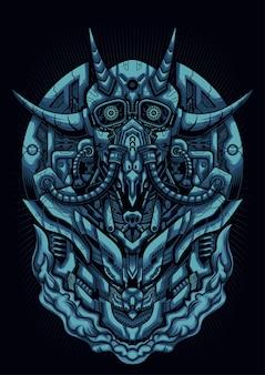 Cyber devil mask