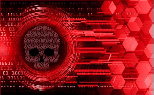 Cyber-hacker-angriff hintergrund schädel vektor