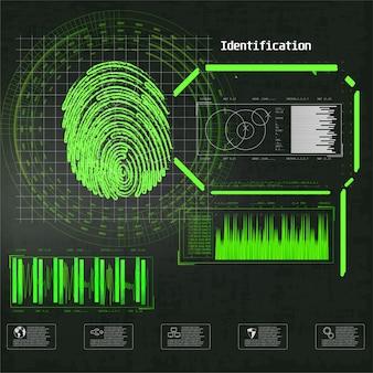 Cyber lock sicherheitsabbildung. geschäftsillustration. futuristische infografik. netzwerksicherheit, sicherheit, datenschutz. futuristische technologie hud screen.
