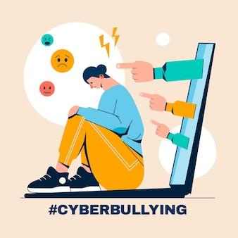 Cyber-mobbing-konzept
